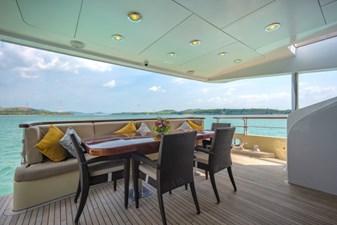 MIA KAI  14 MIA KAI Bilgin Tiago 100 - Aft deck dining and lounge.