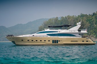 MIA KAI  5 MIA KAI Bilgin Tiago 100 - Port side profile at anchor.