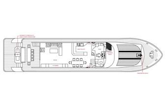 MIA KAI  60 MIA KAI Bilgin Tiago 100 - Flybridge layout.