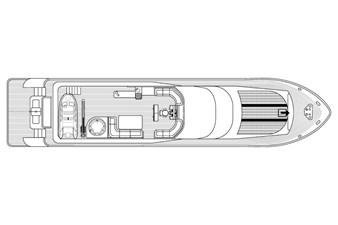 MIA KAI  58 MIA KAI Bilgin Tiago 100 - Main Deck layout.