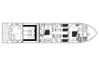 MIA KAI  59 MIA KAI Bilgin Tiago 100 - Lower Deck layout