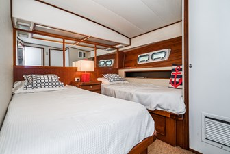 Twin Double Berths in Master Stateroom