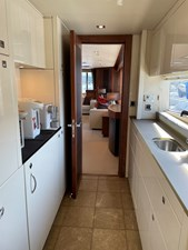 Sunseeker 30m Yacht 27 Pantry Looking Aft