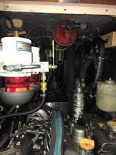 220 Engine Compartment with FireBoy and Dual Racor Fuel Water Separator