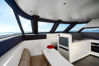 Seating area in galley