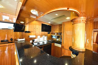 Galley with Full Appliances, TV and Custom Ventilation for Cooking and Fridge Heat Removal