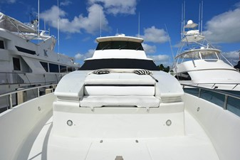 All's Well 17 Foredeck with Bench Seating and Dual Custom Large Yacht Style Bosun's Lockers