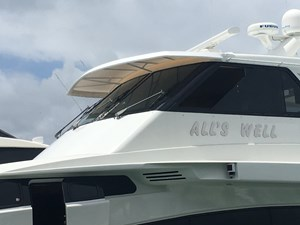 All's Well 18 Enclosed Flybridge Port Front Side View