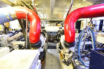 All's Well 29 Engine Room View Aft