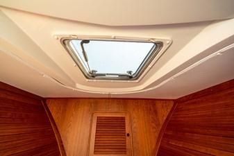 Hatch above the cuddy cabin