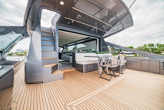 The Wolf 9 Pershing 9X- Aft Deck