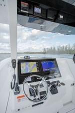 EdgeWater-262cx-Helm-Electronics-Box-Garmin-electronics-Seastar-Optimus-360-Autopilot