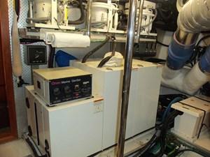 UNBRIDLED 75 Generator Aft of Port Engine
