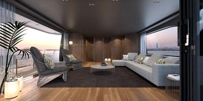 SD118/107 10 11_Sanlorenzo_SD118_asymmetric upper deck salon_interior by Zuccon international Project