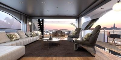 SD118/107 11 12_Sanlorenzo_SD118_asymmetric upper deck salon_interior by Zuccon international Project