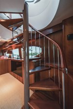 DR. DARK 11 Spiral Staircase to Flybridge Enlarged for Easy Access