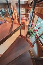 DR. DARK 48 Spiral Staircase in Salon to Flybridge