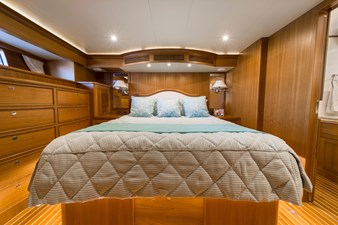 Katie Marie 16 Master Stateroom facing Aft