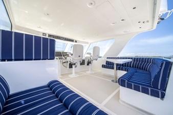 Katie Marie 31 Flybridge Seating facing Starboard