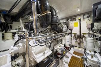 Katie Marie 47 Engine Room facing Port