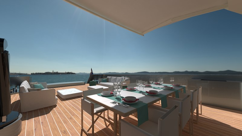 LYNX YACHTS CROSSOVER 27 dining