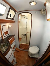 MYSTIC 10 Aft Head and Shower, Looking Fwd.