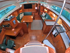 MYSTIC 1 Interior, Looking down from Companionway