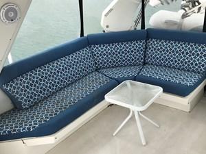 56' 1999 Navigator  22 FB stbd aft seating