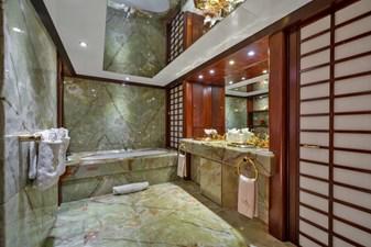 1989/2018 Benetti 151 MY Lady S 30 master bathroom, alternate view