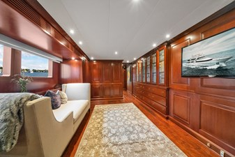 1989/2018 Benetti 151 MY Lady S 26 main deck, seating area outside of the master stateroom
