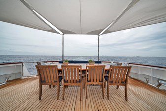 1989/2018 Benetti 151 MY Lady S 11 main deck, aft deck dining