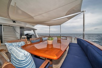 1989/2018 Benetti 151 MY Lady S 12 main deck, aft deck seating, alternate view