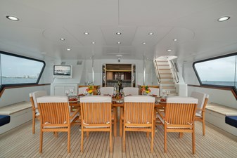 1989/2018 Benetti 151 MY Lady S 19 second level, aft bridge, dining for 10