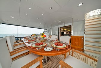 1989/2018 Benetti 151 MY Lady S 20 second level, aft bridge, dining for 10, alternate view