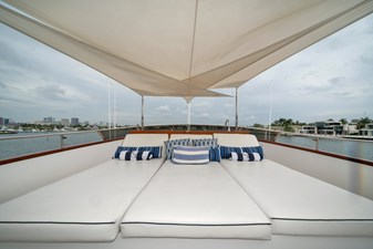 1989/2018 Benetti 151 MY Lady S 41 upper bridge sunpads, alternate view