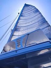 Marlow 8 main sail up