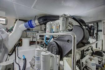 Grace 39 Engine Room Starboard