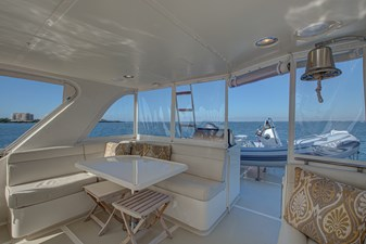 Grace 42 Flybridge Facing Starboard