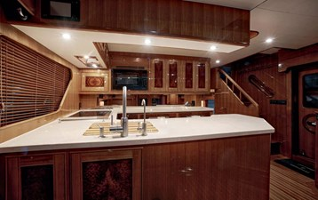 Gammon 22 Galley Looking Aft