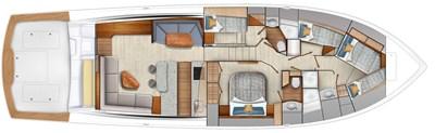 2022 VIKING 64 CONVERTIBLE (TBD) 4 Cabin Layout #2 (Crossover Berths)