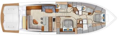 2022 VIKING 64 CONVERTIBLE (TBD) 3 Cabin Layout #1 (Queen Berth)