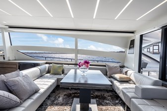 Monarc 3 Main Deck - Salon Seating to Starboard