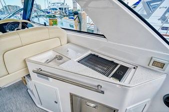 Living The Dream 12 Upper salon countertop - grill and sink