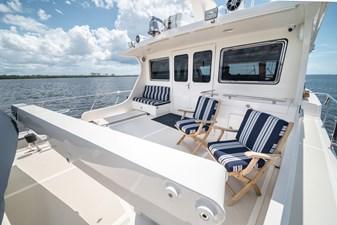 Nautical Nut 37 Upper Aft Deck facing Portside