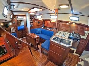 LUNA 5 Galley and Starboard Salon