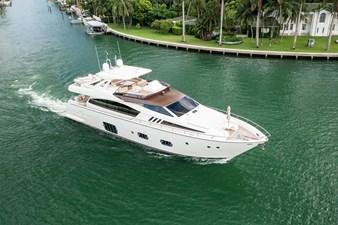 Living Life 3 75 2014 80' Ferretti F800 - Living Life 3 - Starboard Profile