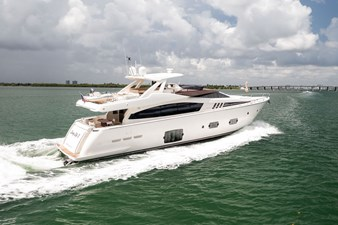 Living Life 3 76 2014 80' Ferretti F800 - Living Life 3 - Starboard Profile