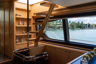 Living Life 3 19 2014 80' Ferretti F800 - Living Life 3 - Stairway access to flybridge