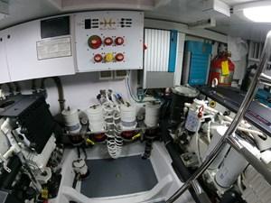 TRAVELER 34 Engine Room Forward Bulkhead
