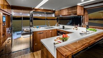 68 sports motor yacht  5 Riviera-68-Sports-Motor-Yacht-Galley-02-Gloss-Walnut-Timber-Finish-R